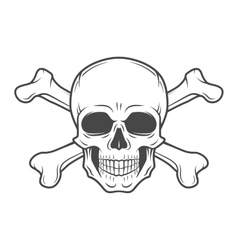 Human evil skull Pirate insignia concept vector image vector image