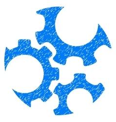 Mechanics gears grainy texture icon vector