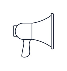 megaphone speaker loud sound marketing symbol vector image