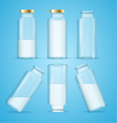 milk bottles drink set vector image