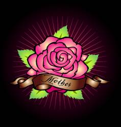Mothers rose vector