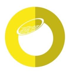 Saint patrick day pot full gold coins treasure vector