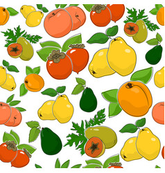 Seamless pattern of sweet fresh fruits vector
