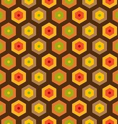 Seamless retro honeycomb pattern vector image vector image