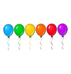 Set of colorful balloons isolated on white vector image vector image