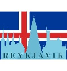 Silhouette of reykjavik vector