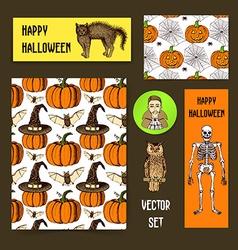 Sketch Halloween set vector image vector image