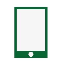 Smartphone green screen flat icon vector