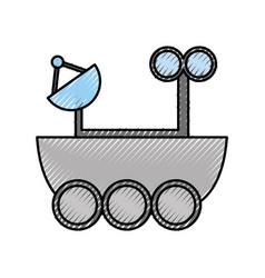 Space explorer car icon vector