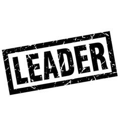 Square grunge black leader stamp vector