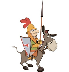 The knight and knightly donkey vector