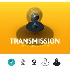 Transmission icon in different style vector