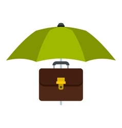 Umbrella and diplomat icon flat style vector image