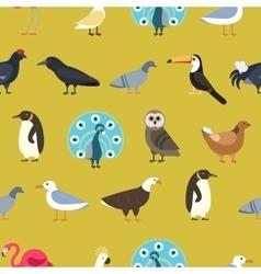 Vintage summer birds background vector