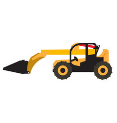 Wheel loader vehicle icon vector