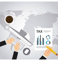 Tax form flat icons vector