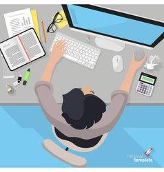 Accountant office desktop vector