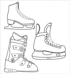 sports boots outline vector image