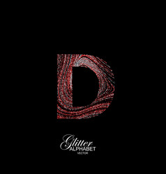 Curly textured letter d vector