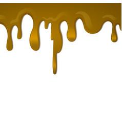 Dripping caramel eps10 vector