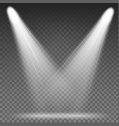 White beam lights spotlights different vector