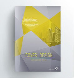 Book cover design template with skyscrapers vector