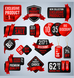 Price tags special business offer labels and vector