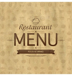 Vintage restaurant menu design vector
