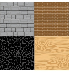 Wall from miscellaneous material vector