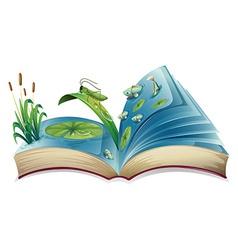 Pop-up book vector image