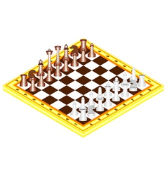 Chess on chess board vector