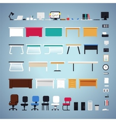 Office Furniture Set vector image