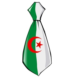 Necktie in national colours of algeria vector
