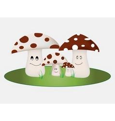 Mushroom family vector