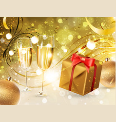 Christmas celebration background vector