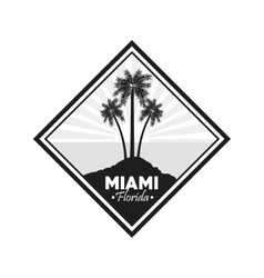 Palm tree icon miami florida design vector