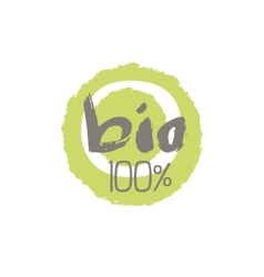 Percent bio food label design vector