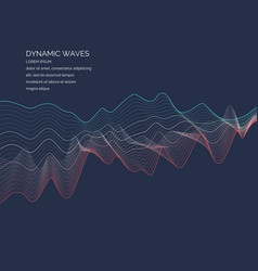 abstract background with a dynamic waves lines in vector image vector image