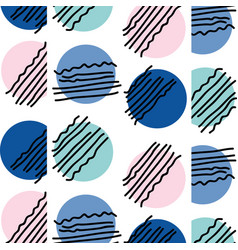 Abstract circle memphis style background vector