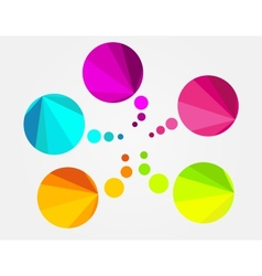 Abstract colorful round speech bubble vector image vector image