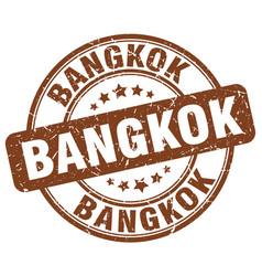 Bangkok brown grunge round vintage rubber stamp vector