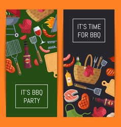 barbecue or grill elements banner templates vector image