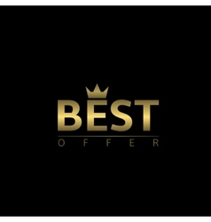 Best offer logo vector