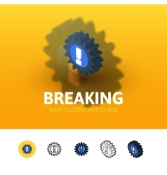 Breaking icon in different style vector