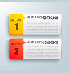 business steps infographic concept vector image