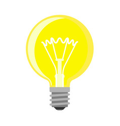 cartoon lamp light bulb design flat vector image vector image