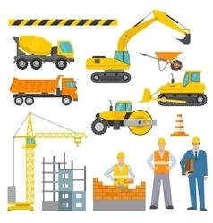 Construction Decorative Icons Set vector image