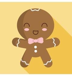Cookie cartoon icon merry christmas design vector