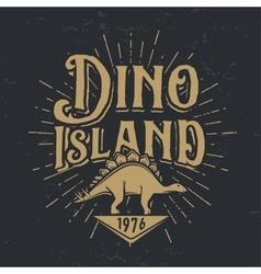 dino island logo concept Stegosaurus vector image