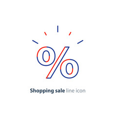 Discount line icon shopping sale offer sign vector